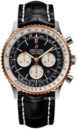 Breitling Navitimer 01 46Mm Sort/Læder Ø46 mm UB0127211B1P1