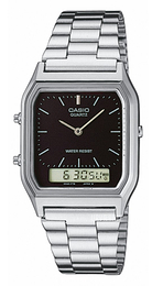 Casio Casio Collection Sort/Stål 38.8x27.8 mm AQ-230A-1DMQYES