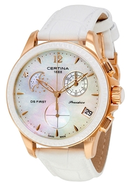 Certina DS First Lady Hvid/Læder Ø38 mm C030.250.36.106.00