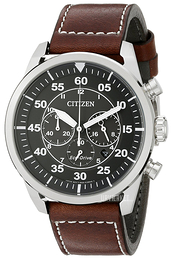 Citizen Leather Sort/Læder Ø45 mm CA4210-24E