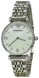 Emporio Armani Dress Hvid/Stål Ø32 mm AR1682