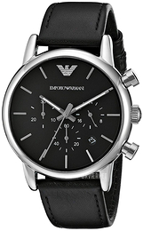 Emporio Armani Dress Sort/Læder Ø41 mm AR1733
