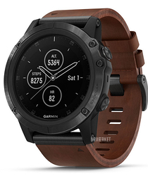Garmin Fēnix 5X Plus Flerfarvet/Læder Ø51 mm 010-01989-03