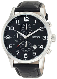 Hugo Boss Aeroliner Sort/Læder Ø44 mm 1512448