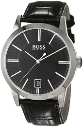 Hugo Boss Success Sort/Læder Ø42 mm 1513129