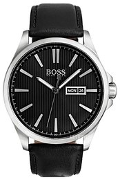 Hugo Boss The James Sort/Læder Ø42 mm 1513464