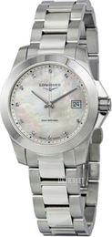 Longines Conquest Ladies Hvid/Stål Ø34 mm L3.377.4.87.6
