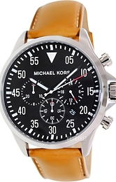Michael Kors Gage Sort/Læder Ø45 mm MK8333