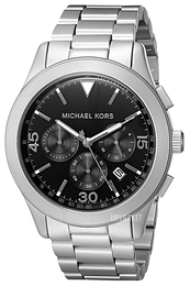 Michael Kors Gareth Sort/Stål Ø43 mm MK8469