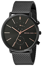 Michael Kors Jaryn Sort/Stål Ø42 mm MK8504