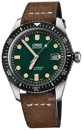 Oris Diving Grøn/Læder Ø42 mm 01 733 7720 4057-07 5 21 02