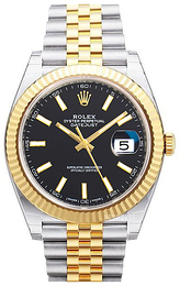 Rolex Datejust 41 Sort/18 karat guld Ø41 mm 126333-0014