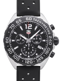 TAG Heuer Formula 1 Sort/Gummi Ø43 mm CAZ1010.FT8024