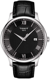 Tissot Tradition Gent Sort/Læder Ø42 mm T063.610.16.058.00