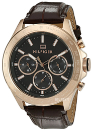 Tommy Hilfiger Hudson Sort/Læder Ø44 mm 1791225