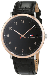 Tommy Hilfiger Dress Sort/Læder Ø40 mm 1791339