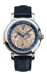 Patek Philippe Grand Complications Skeletskåret/Læder Ø43 mm 5104P/001