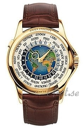 Patek Philippe Complicated Europe-Asia World Time Flerfarvet/Læder Ø39.5 mm 5131J/001