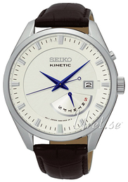 Seiko Kinetic Champagne/Læder Ø43 mm SRN071P1
