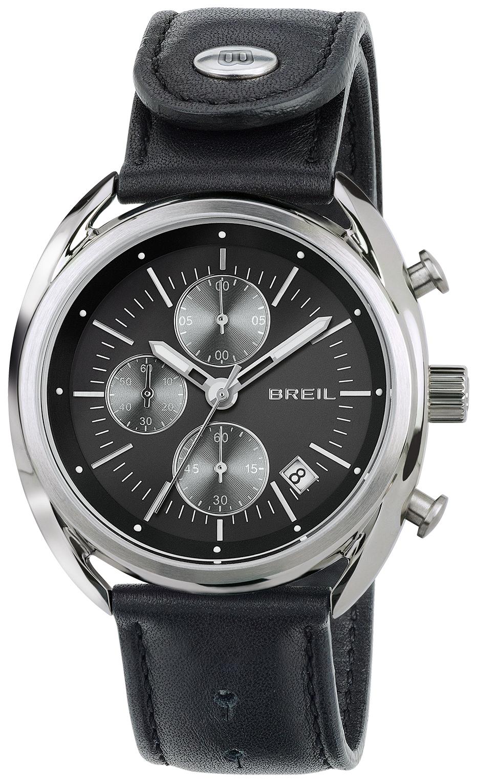Breil 99999 Herreur TW1527 Sort/Læder Ø42 mm