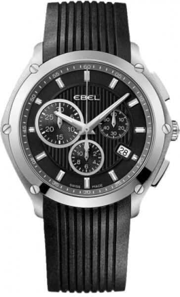 Ebel Classic Sport Herreur 1216044 Sort/Gummi Ø41 mm
