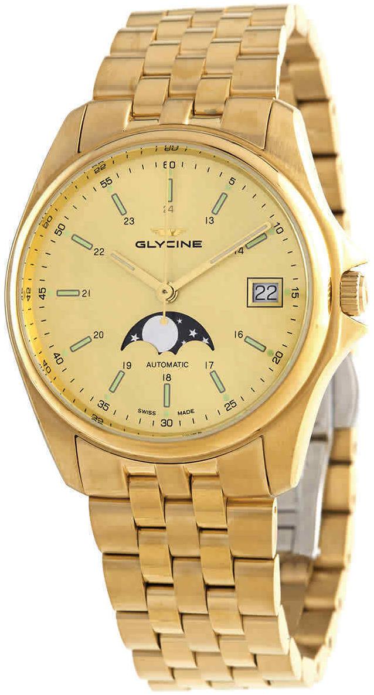 Glycine Combat Herreur GL0247 Gul/Guldtonet stål Ø36 mm