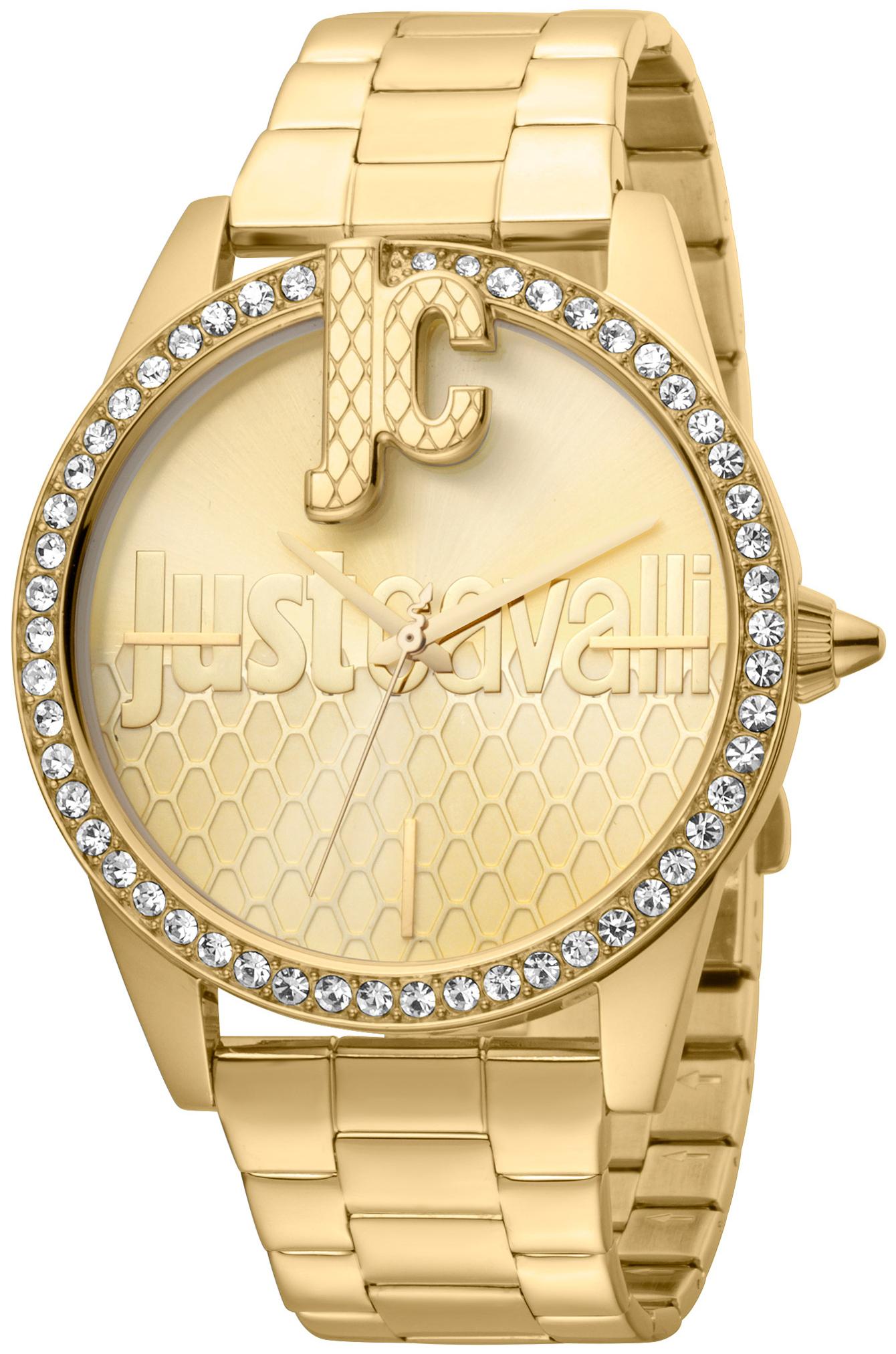 Just Cavalli Logo Dameur JC1L100M0085 Guldfarvet/Gul guldtonet stål
