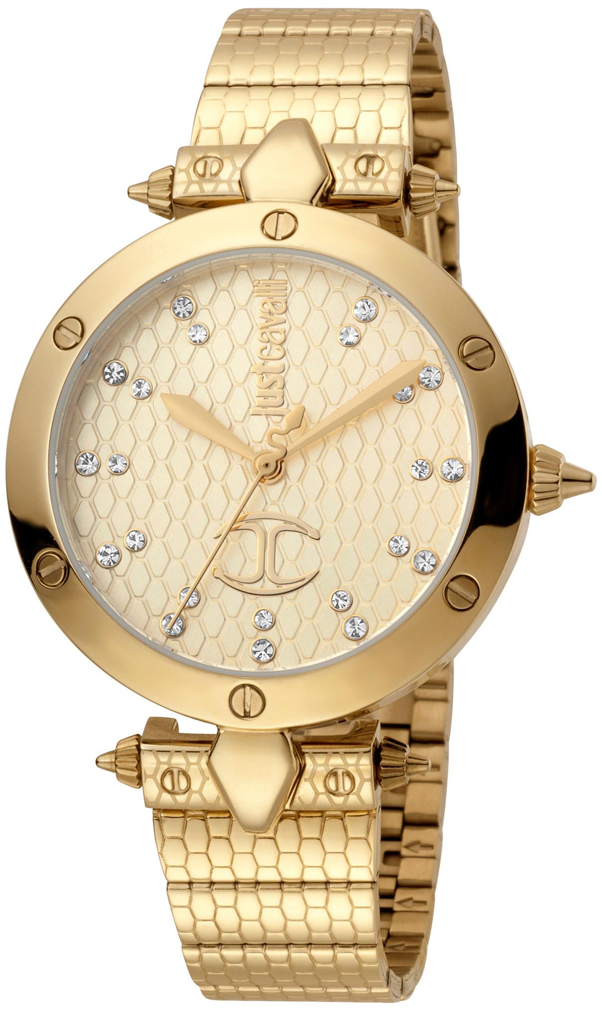 Just Cavalli 99999 Dameur JC1L122M0065 Champagne/Gul guldtonet stål