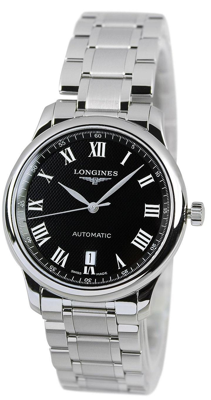 Longines Master Herreur L2.628.4.51.6 Sort/Stål Ø38.5 mm