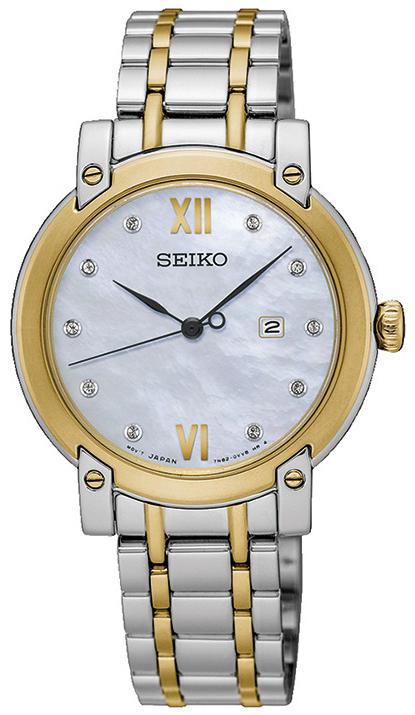 Seiko Dress Dameur SXDG84P1 Sølvfarvet/Gul guldtonet stål Ø31.4 mm