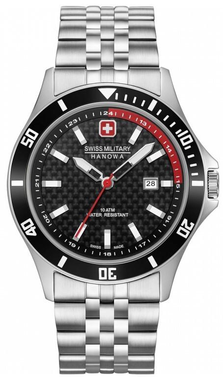 Swiss Military Flagship Racer Herreur 06-5161.2.04.007.04 Sort/Stål