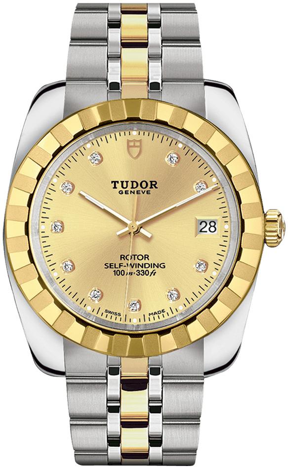 Tudor Classic Date 21013-0007 Guldfarvet/Gul guldtonet stål Ø38 mm