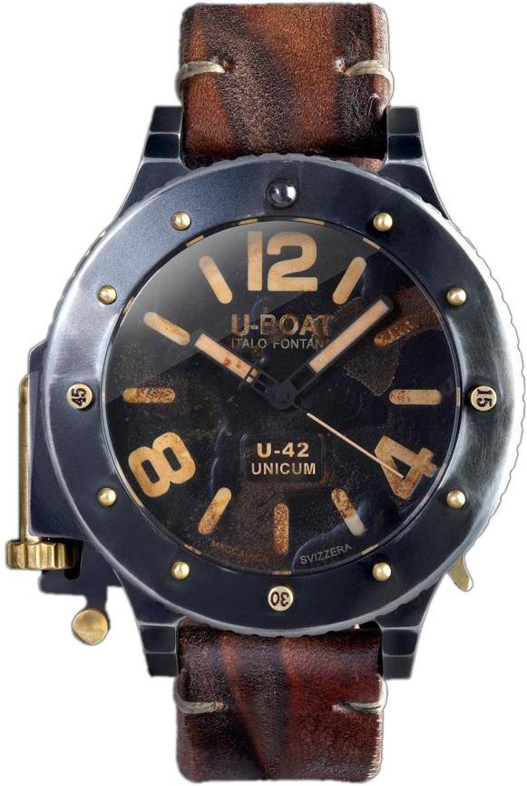 U-Boat U-42 Herreur 8088 Sort/Læder Ø53 mm