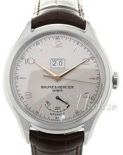 Baume & Mercier Clifton Sølvfarvet/Læder Ø43 mm