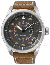 Citizen Leather Grå/Læder Ø45 mm