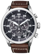 Citizen Sort/Læder Ø45 mm