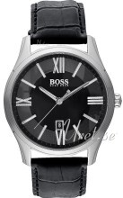 Hugo Boss Ambassador Sort/Læder Ø40 mm