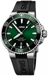 Oris Diving Grøn/Gummi Ø43.5 mm 01 733 7730 4157-07 4 24 64EB