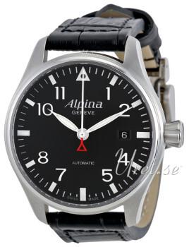 Alpina Startimer Sort/Læder Ø40 mm